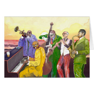 """Jazz band"" Card"