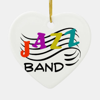 Jazz Band Ceramic Ornament