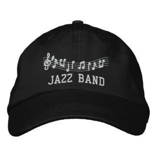 Jazz Band Embroidered Music Hat Embroidered Baseball Cap