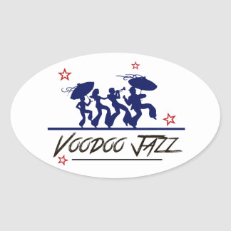 Jazz band new Orleans Oval Sticker