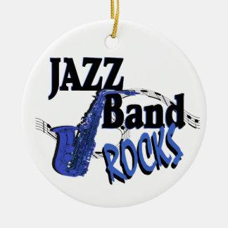 Jazz Band Rocks Ceramic Ornament