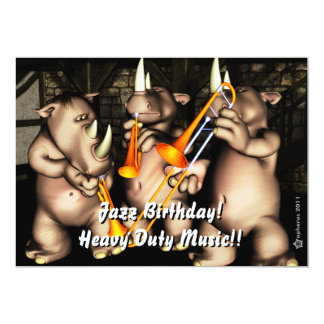 Jazz Birthday Invite