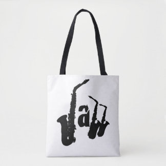 Jazz Black Sax Choose your color background bag