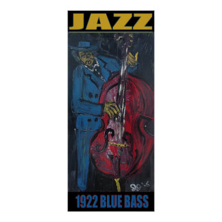 JAZZ BLUE BASS PRINT