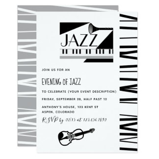 Jazz Blues Theme Party invitation