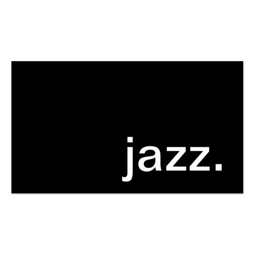 Jazz Business Card