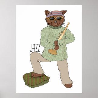 Jazz Cat Poster