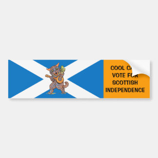 Jazz Cats for Scottish Independence Bumper Sticker
