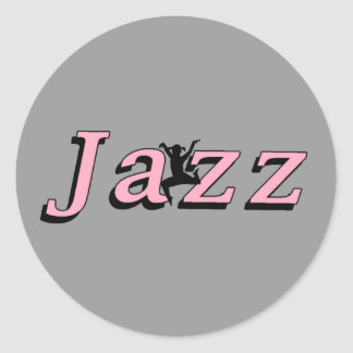 Jazz Classic Round Sticker