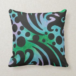 Jazz - Colorful Abstract Original Artwork Painting Cushion