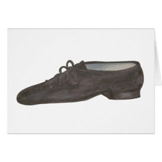 Jazz Dance Shoe Recital Teacher Choreographer Card