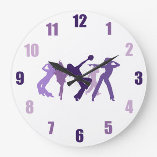 Jazz Dancers Illustration Clock