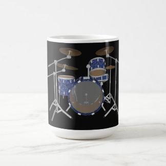 Jazz Drum Kit: Custom Blue Drums Set: Coffee Mug