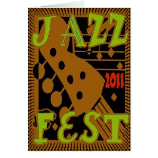 Jazz Fest 2011 Guitar Greeting Cards