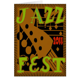 Jazz Fest 2011 Guitar Greeting Card