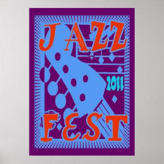 Jazz Fest 2011 Guitar Print