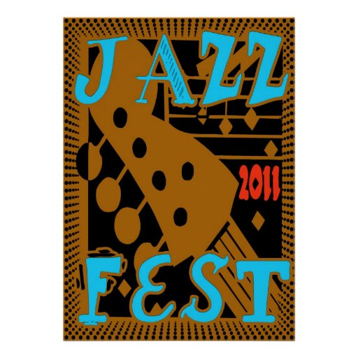 Jazz Fest 2011 Guitar Poster