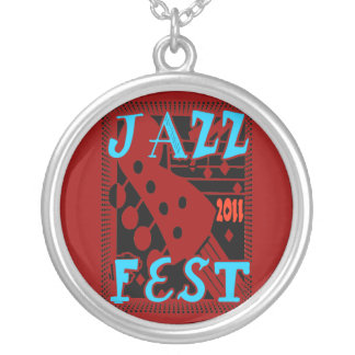 Jazz Fest 2011 Guitar Round Pendant Necklace