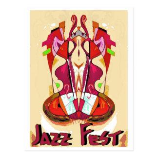Jazz Fest Abstract Bass1 Postcard