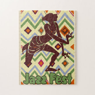 Jazz Fest Abstract Dancer Jigsaw Puzzle