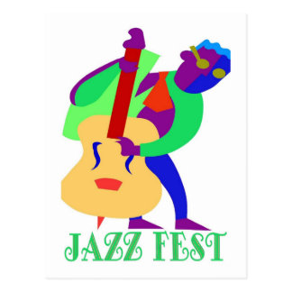 Jazz Fest Blues Man Postcard