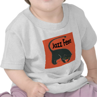 Jazz Fest Chat Noir, Red 2015 T Shirts