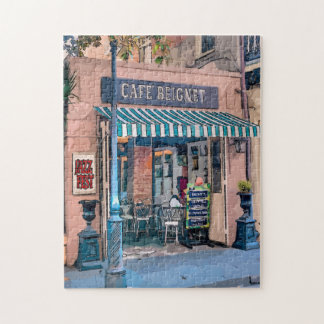 Jazz Fest French Quarter Coffee Shop Jigsaw Puzzle