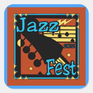 Jazz Fest Guitar 2012 Square Sticker