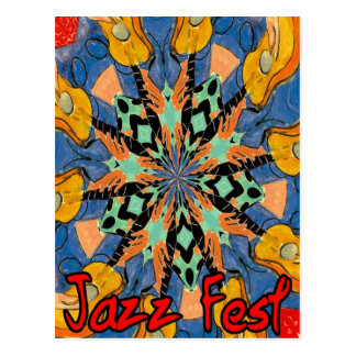Jazz Fest Guitars 2 Postcard