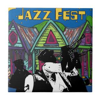 Jazz Fest Houses, Brass Band Tile