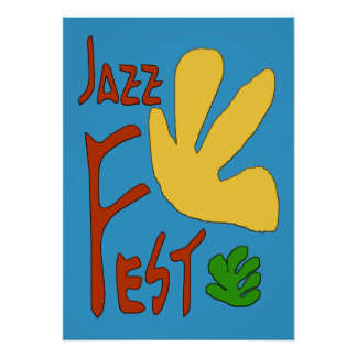 Jazz Fest Leaves Poster