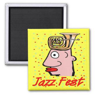 Jazz Fest Tuba Head Magnet