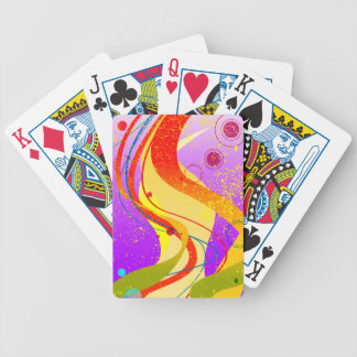 Jazz Fleck Background Bicycle Playing Cards