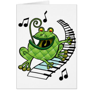 Jazz Frog Card