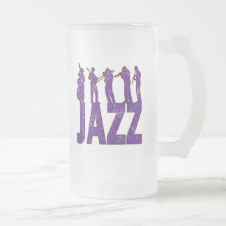 Jazz Frosted Glass Beer Mug