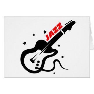Jazz Guitar Greeting Card