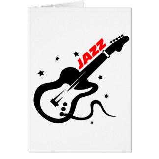 Jazz Guitar Card