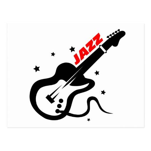Jazz Guitar Post Cards