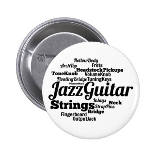 Jazz Guitar Word Cloud Black Text Buttons