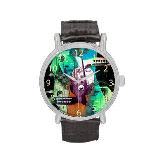 jazz improvisation urban acoustic guitar collage wristwatches