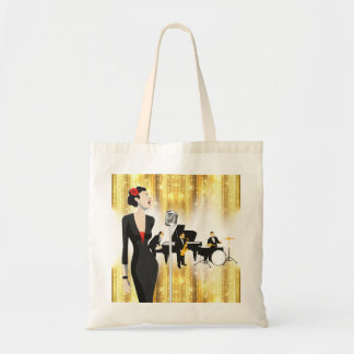 Jazz In The Park Tote Bag, Music Theme