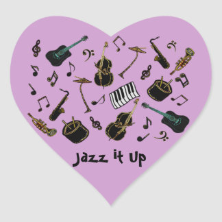 Jazz it Up Heart Sticker