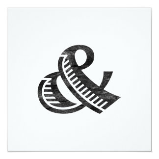 Jazz Letterpress Ampersand Black Card