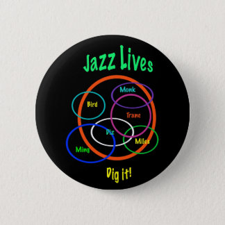 Jazz Lives 6 Cm Round Badge