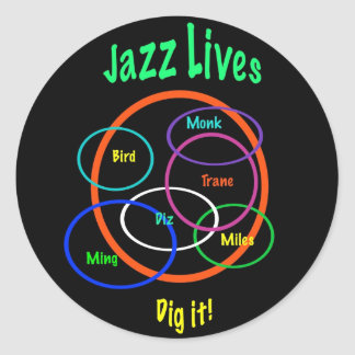Jazz Lives Classic Round Sticker
