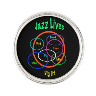 Jazz Lives Lapel Pin
