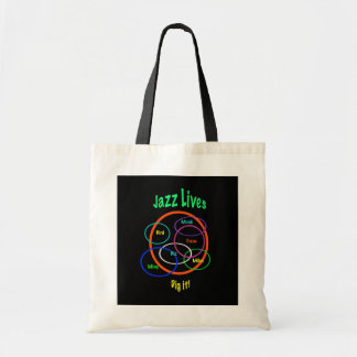 Jazz Lives Tote Bag