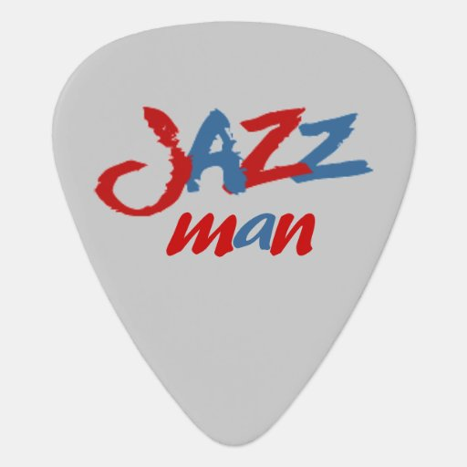 Jazz Man Guitar Pick