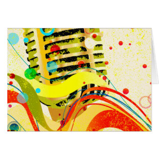 Jazz Microphone Poster Card