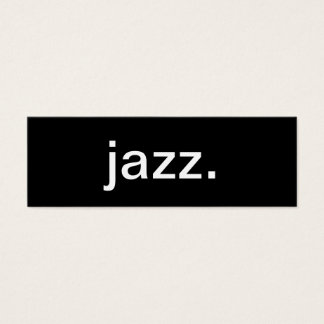 Jazz Music Business Card
